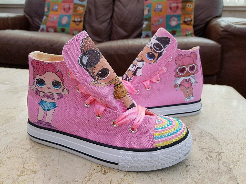Lol doll surprise pink high tops canvas