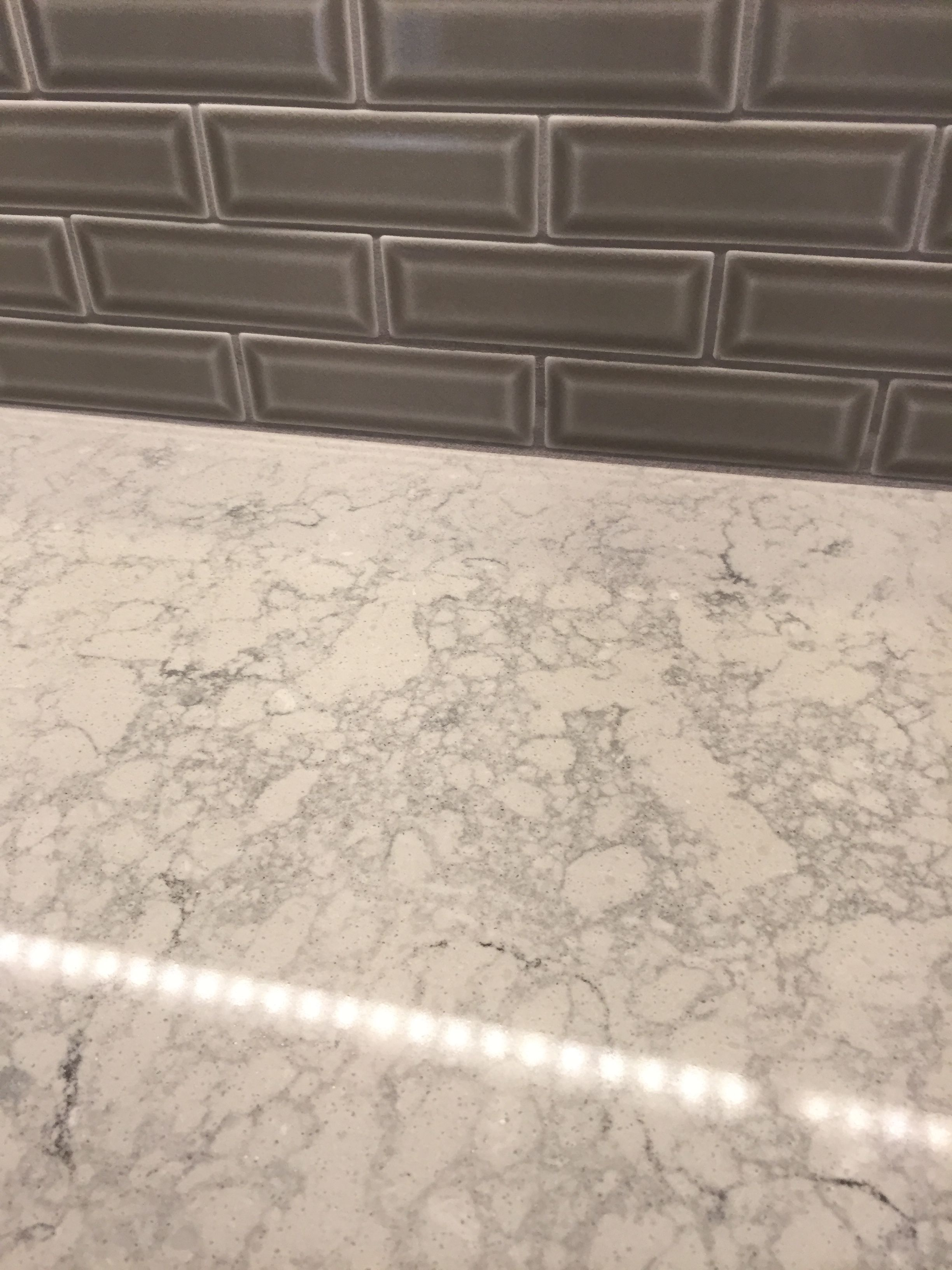 Caesarstone Montblanc Quartz Msi Dove Gray Beveled 2x6 Tile