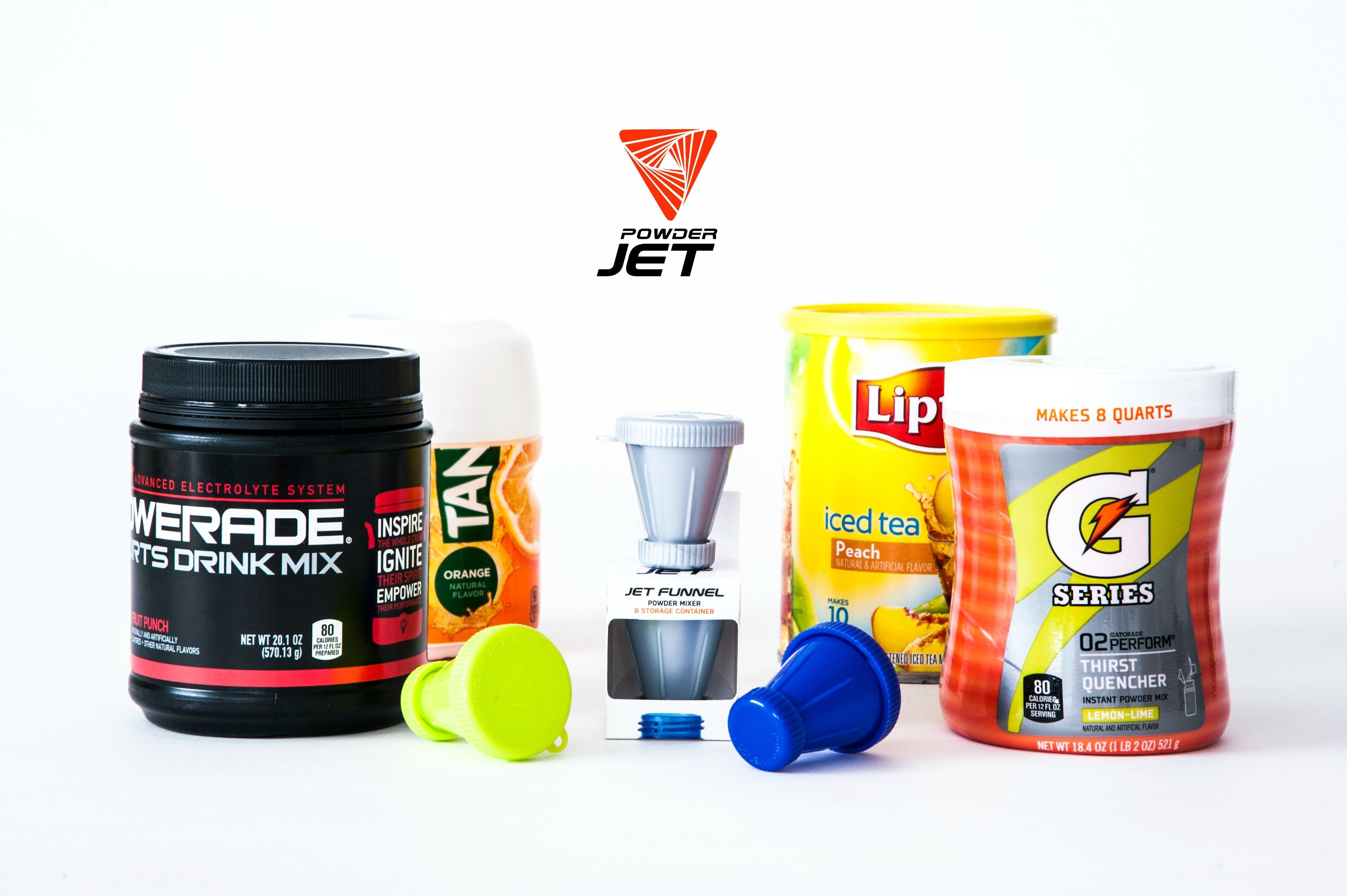 The Perfectly Sized Powderjet Mini Is The Solution For Transporting And Mixing Your Favorite Sport Drink Mix Iced Tea Protein Funnel Iced Tea Mix Iced Tea
