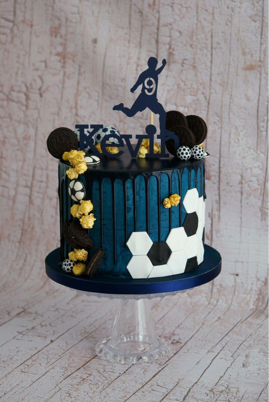 Football Drip Cake Tortas Deportivas Tortas De Boca Torta De Cupcakes