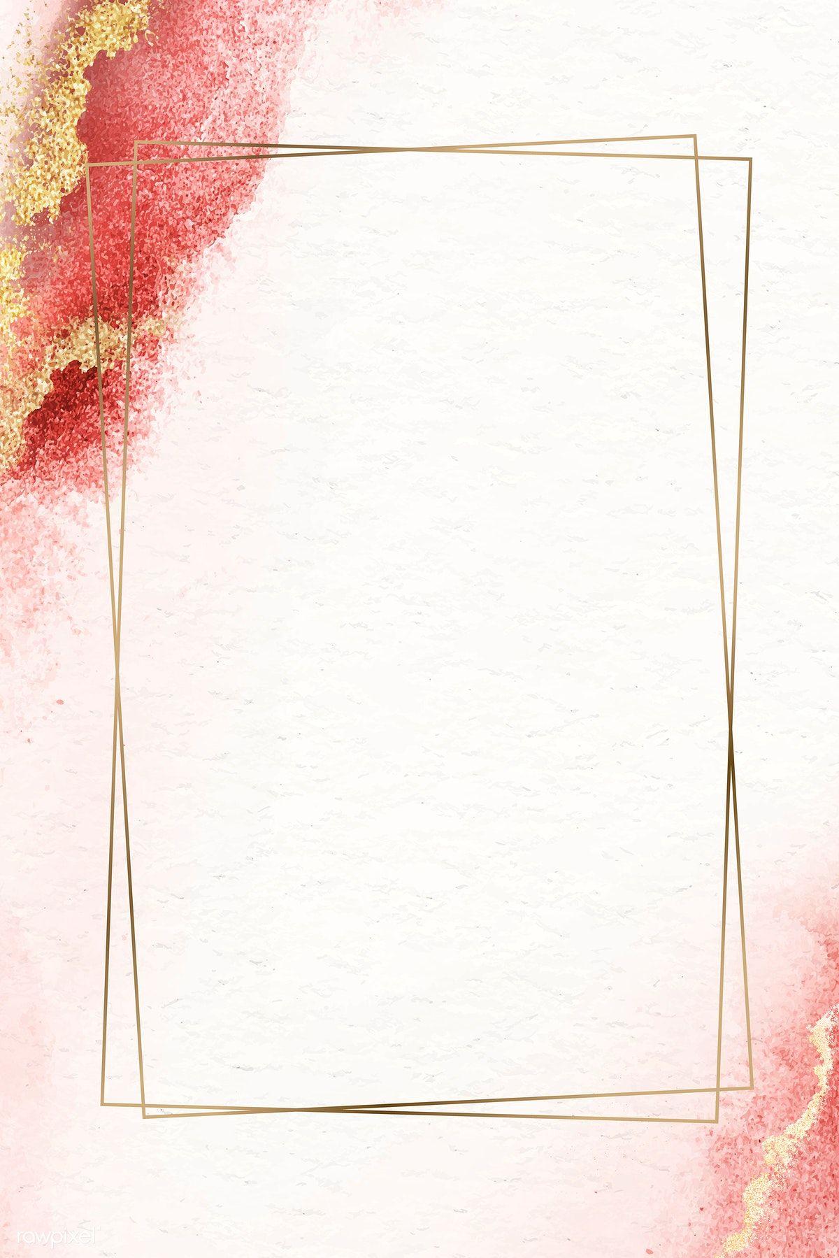 Download Premium Vector Of Rectangle Golden Vintage Frame Design Frame Design Vintage Frames Flower Background Wallpaper