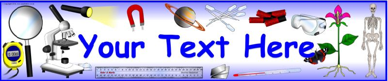 editable science themed banner template sb10730 sparklebox slp