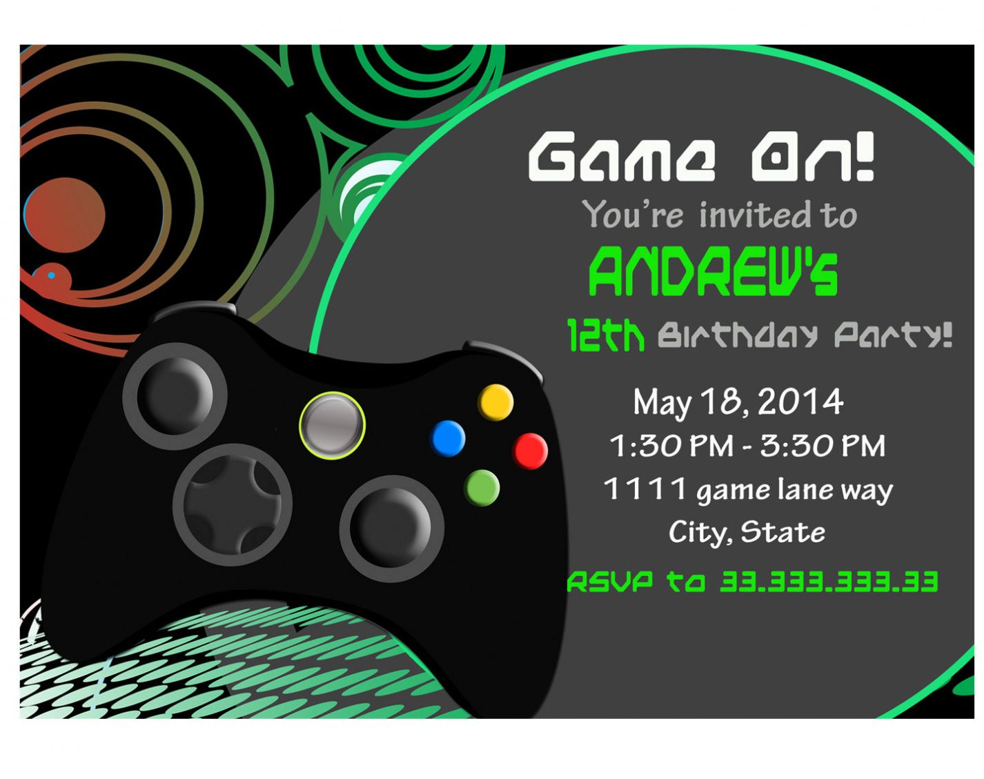 Resultado de imagen para gamer party  Video game party invitation