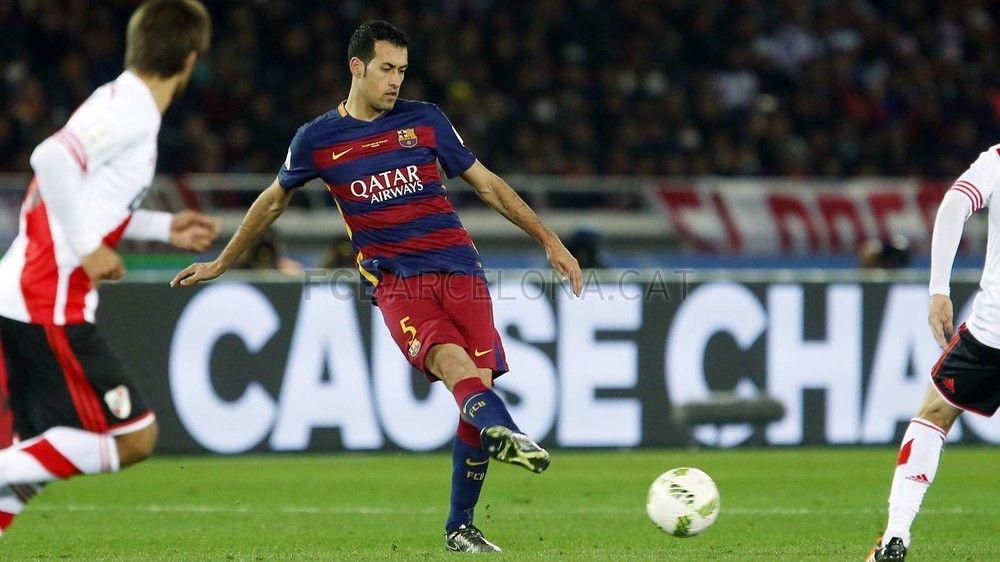 Busquet uno de los imprescindible -River Plate - FC Barcelona (0-3)   FC Barcelona