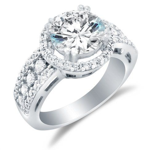 17 best images about wedding ring redesign on Pinterest | Cubic zirconia  engagement rings, White gold and Matching wedding bands