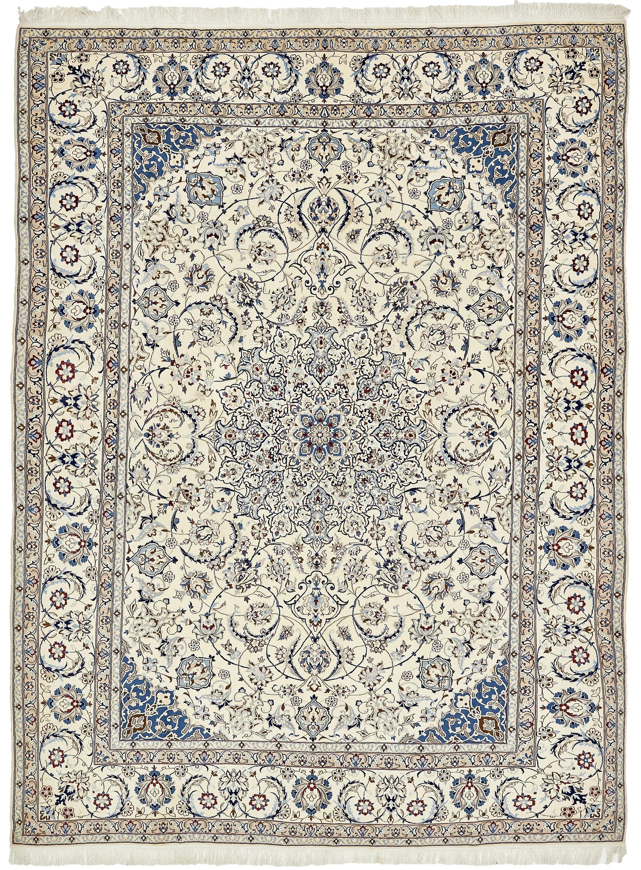 Cream 9 11 X 13 7 Nain Persian Rug Persian Rugs Handknotted