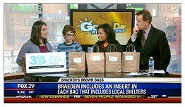 """Keene Elementary School student Braeden Mannering featured on Good Day Philadelphia on November 26:  """"Junior Chef on Good Day with New Project""""  [November 26, 2013: www.myfoxphilly.com]"""
