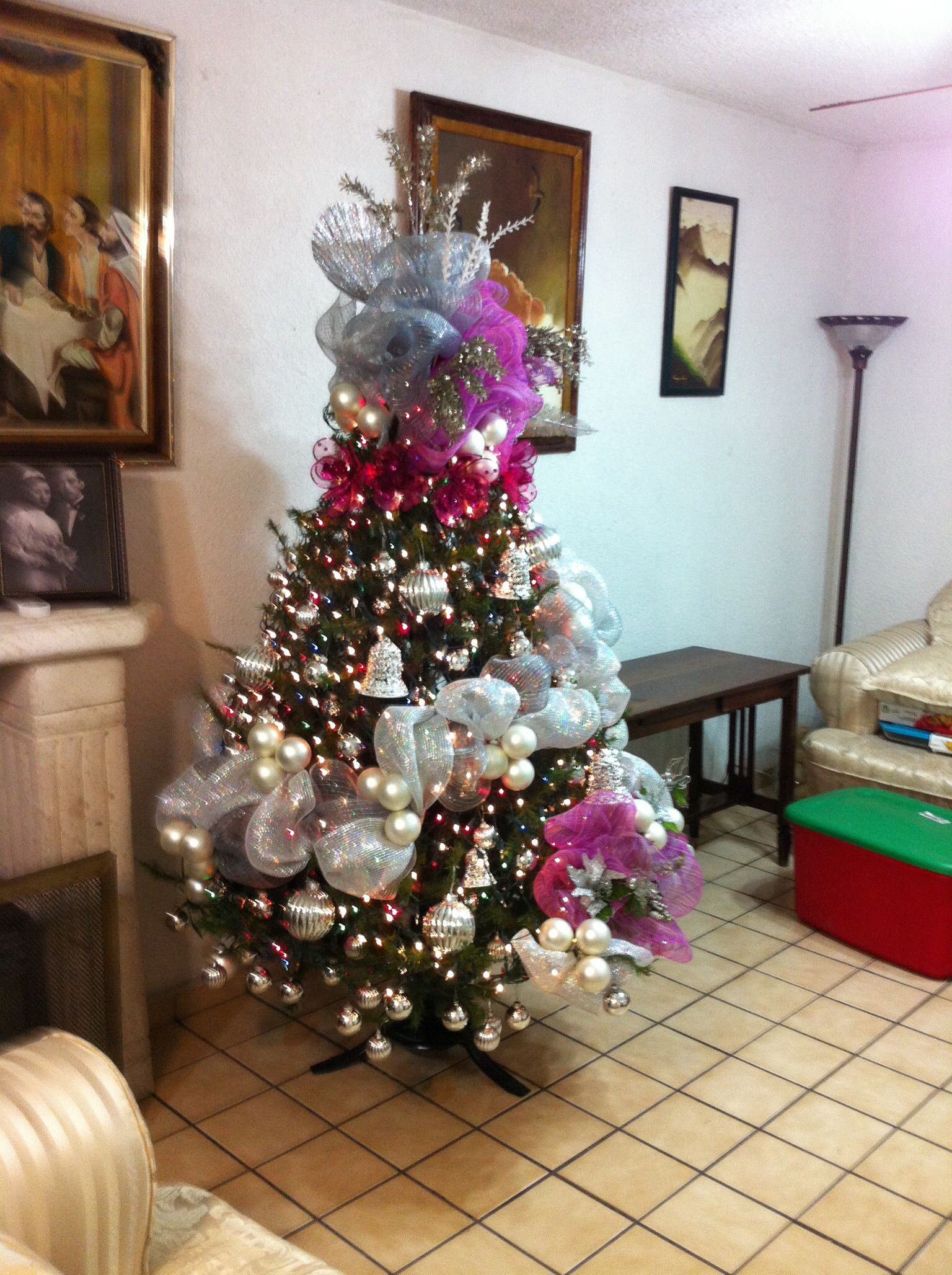 Xmas Tree Thoughts Pino En Plata Y Rosa Creaci N