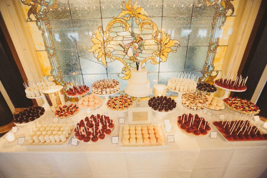 Minneapolis Wedding Cake and Mini Dessert Table | Dessert Table ...