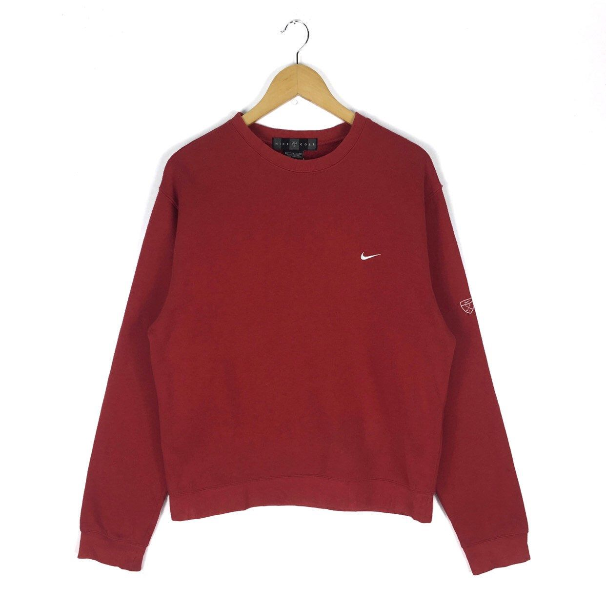 Excited To Share This Item From My Etsy Shop Vintage Nike Golf Swoosh Crewneck Sweatshirt Crewneck Small Lo Vintage Nike Sweatshirt Red Pullover Vintage Nike