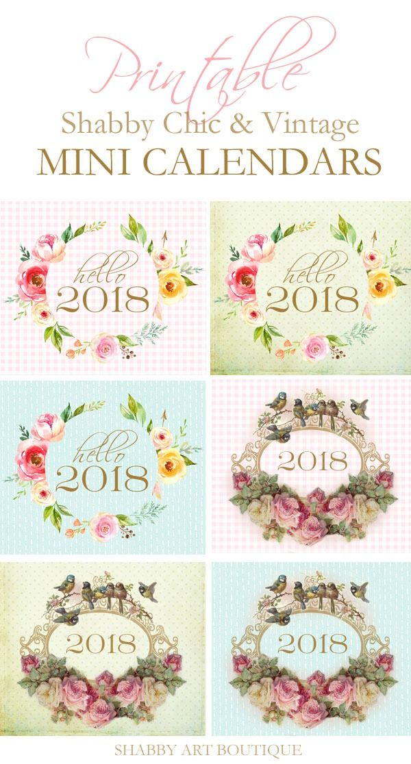 2018 mini calendar printable free