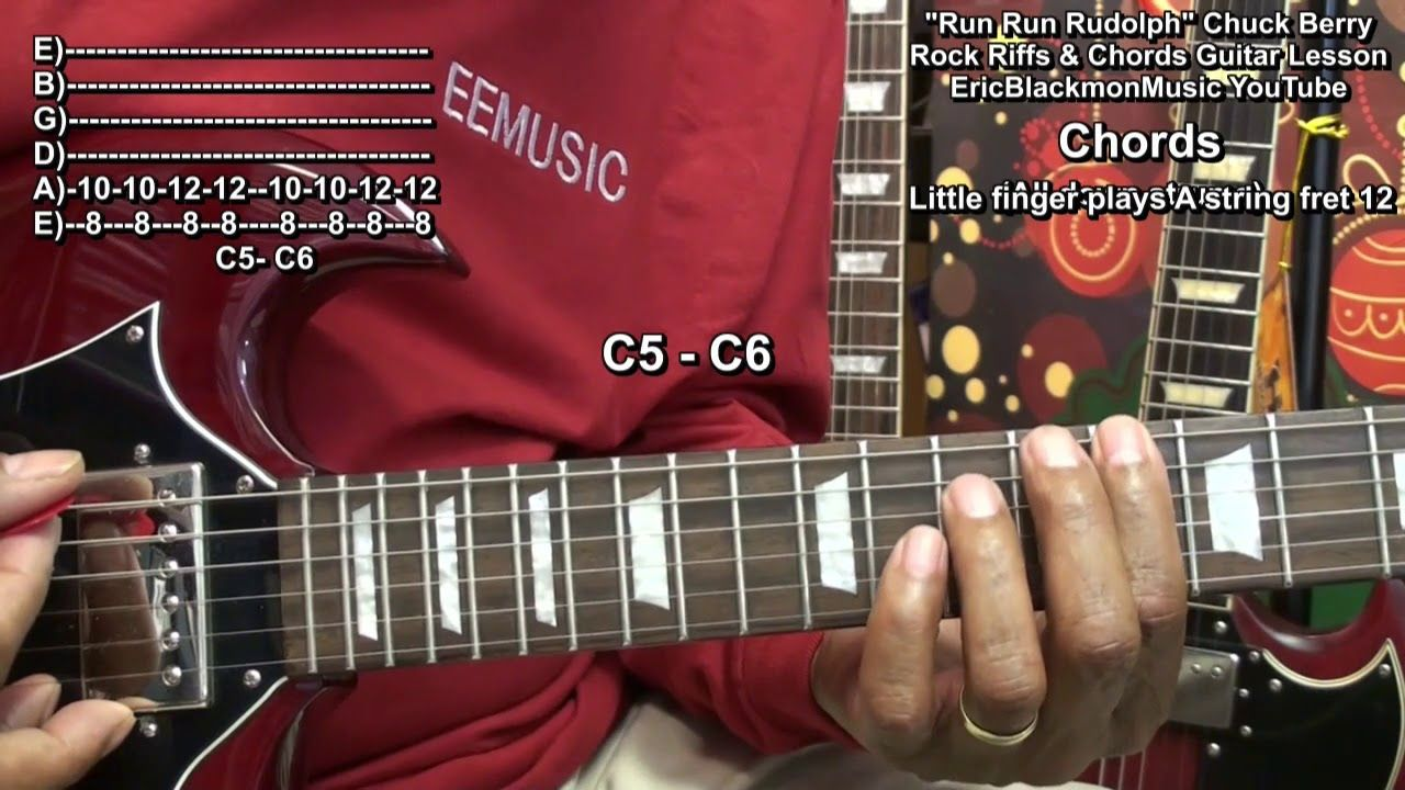 How To Play Run Run Rudolph Chuck Berry On Guitar Eric Blackmon