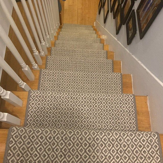 Best Alfa Stone 100 Wool True Bullnose™ Padded Carpet Stair 400 x 300