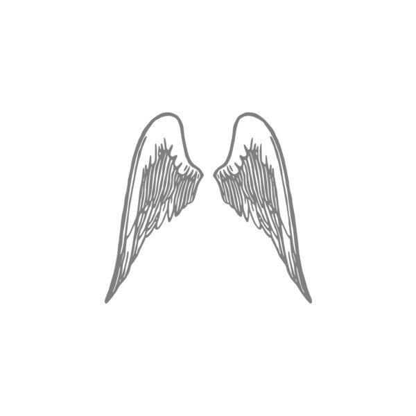 Angel Wings Grey clip art ❤ liked on Polyvore