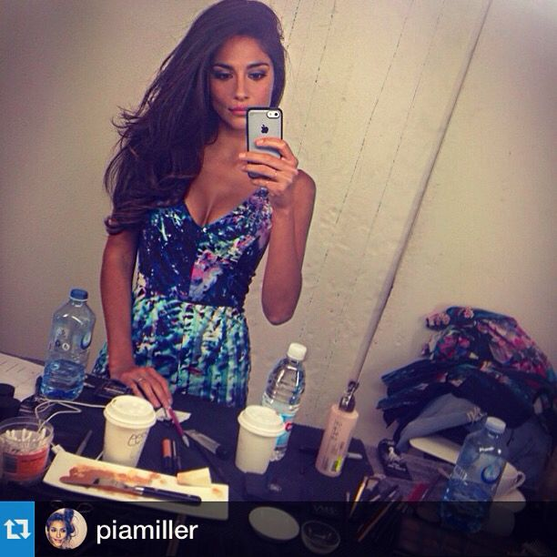 Pia Miller , pretty dress