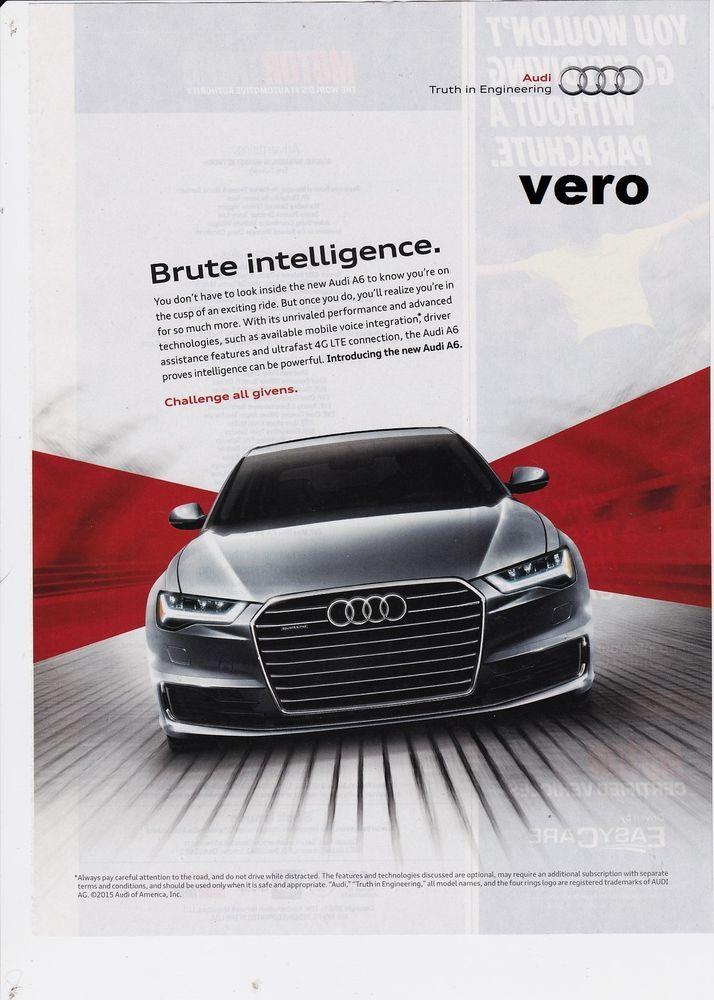 AUDI A6 2015 magazine photo print ad clipping ...