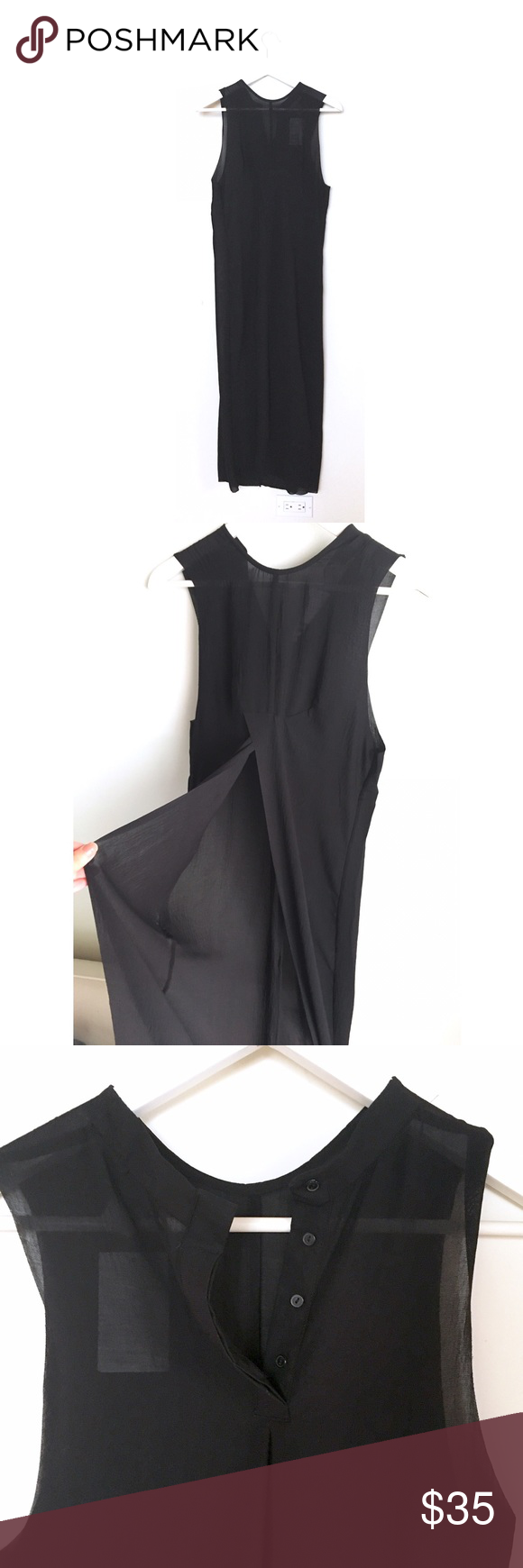 Nwt hum long sheer sleeveless dress nwt h m dress sexy and a button