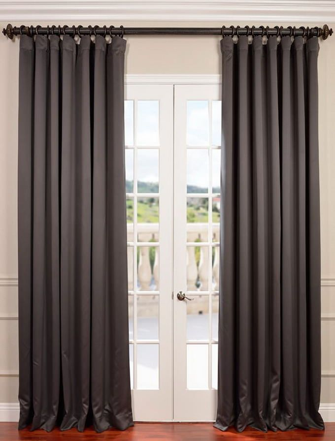 Anthracite Grey Wide Blackout Room Darkening Curtain Half Price Drapes Panel Curtains Curtains