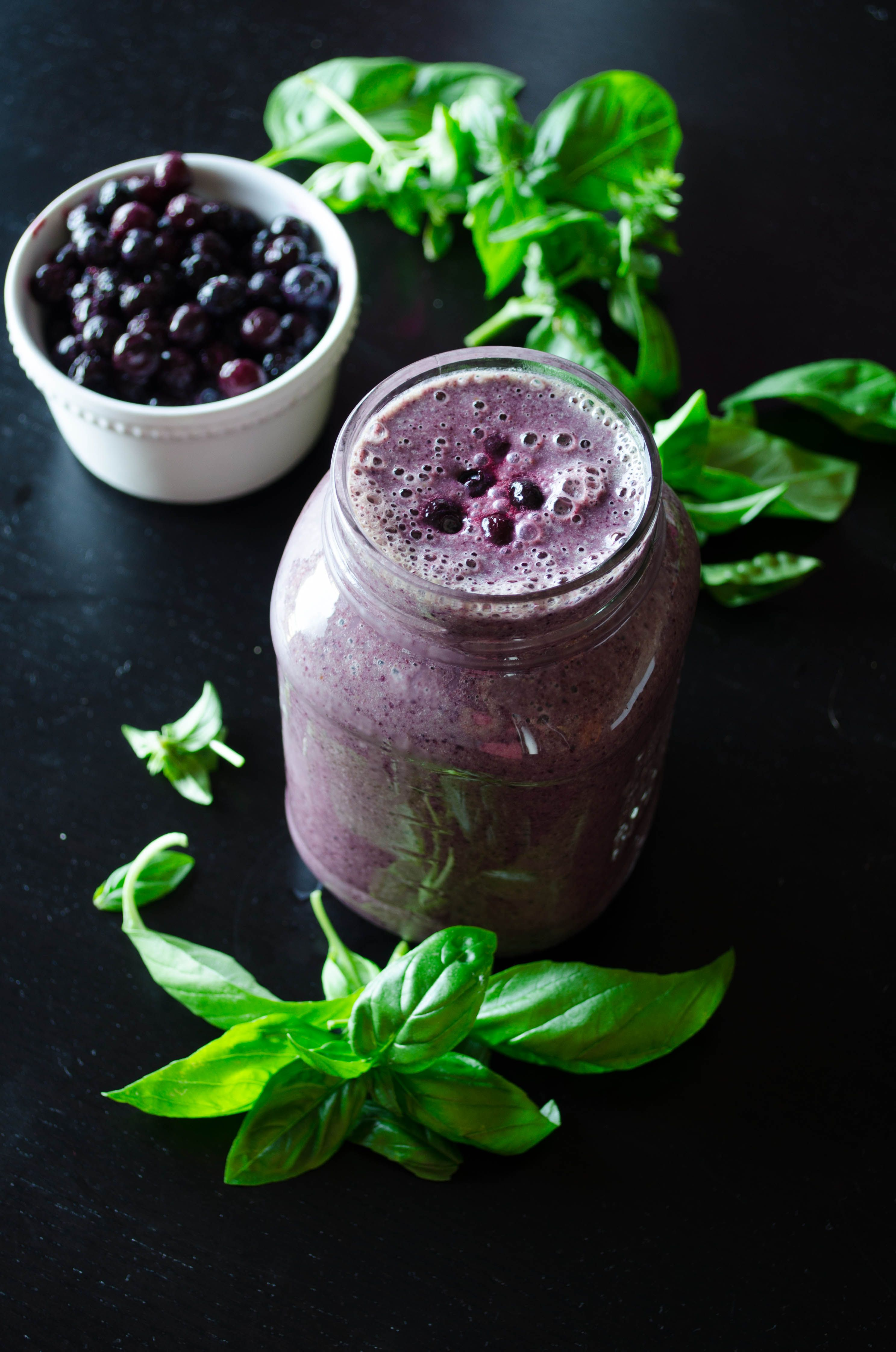Blueberry basil smoothie an incredibly refreshing