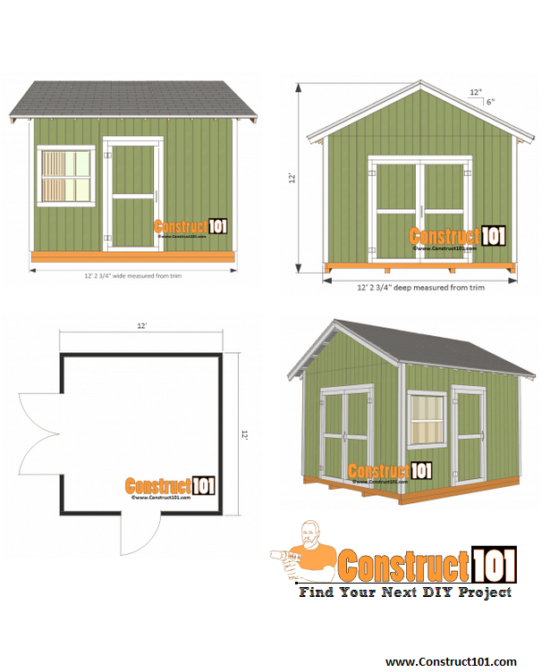 Free Shed Plans With Drawings Material List Free Pdf Download Arquitectura Construccion
