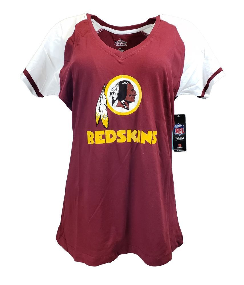Women s Washington Redskins NFL Majestic Logo V-Neck T-Shirt ... b0f6f31d0