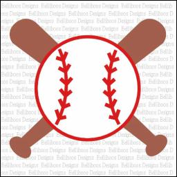 Download Baseball Bat and Ball SVG design by www.belliboos.com ...