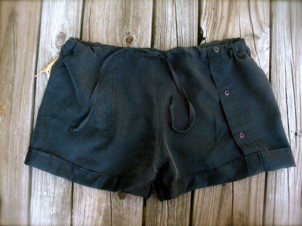 cute shorts made from an old tshirt