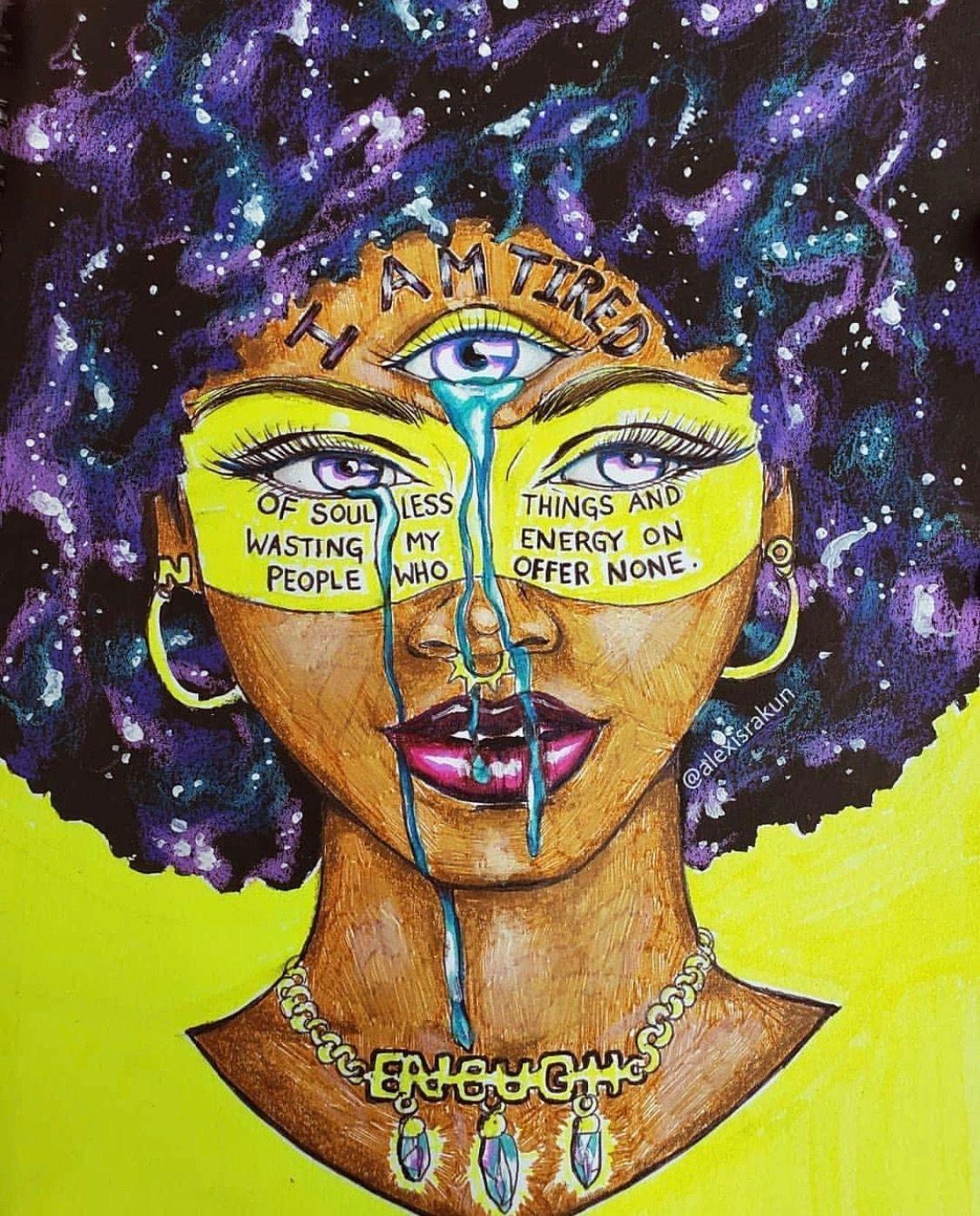Illustrated by: Alexisrakun   Black love art, Black girl ...