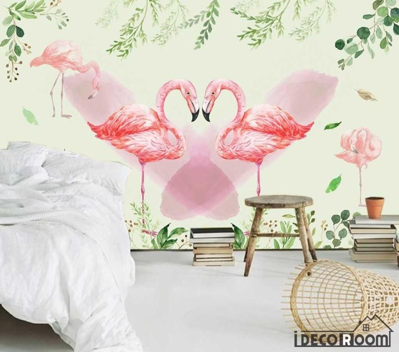 romantic love flamingos wedding room bedroom wallpaper wall murals IDCWPHL000239 is part of Romantic bedroom Wallpaper -  Superior Quality and Striking Color  100% Natural, Environmental and Breathable  The images on the picture is for illustration purpose only, please refer to the actual size sheet   If you need custom size please contact us by Email,wall or ceiling wallpaper can be purchased separately  Please visit How to apply page before you purchase