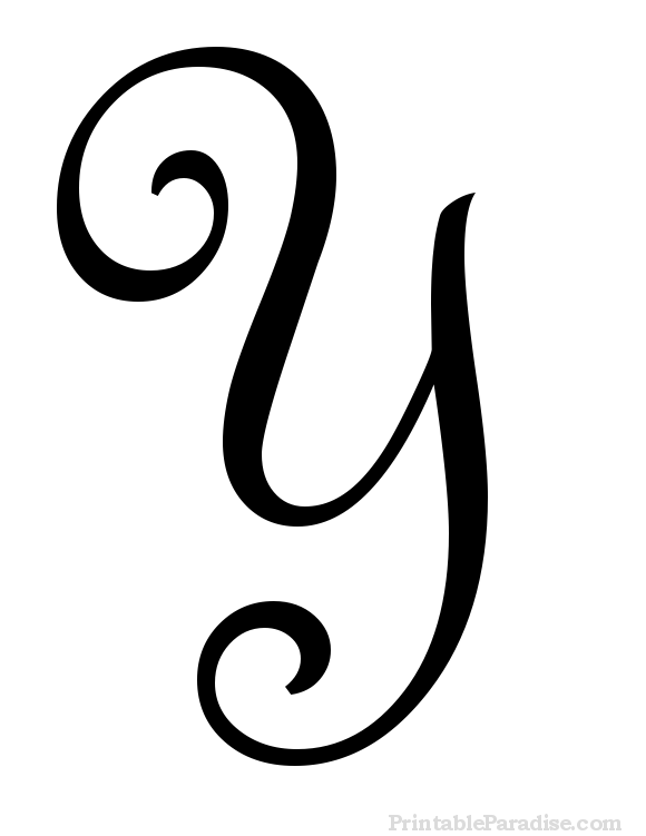 Printable Letter Y in Cursive Writing | DIY Projects | Cursive
