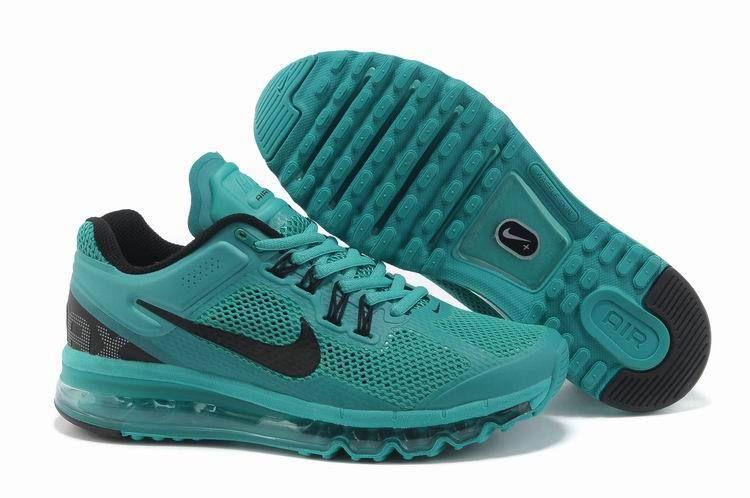 Nike Air Max+ 2013 Running Jade Green Black Logo Shoes   Träning