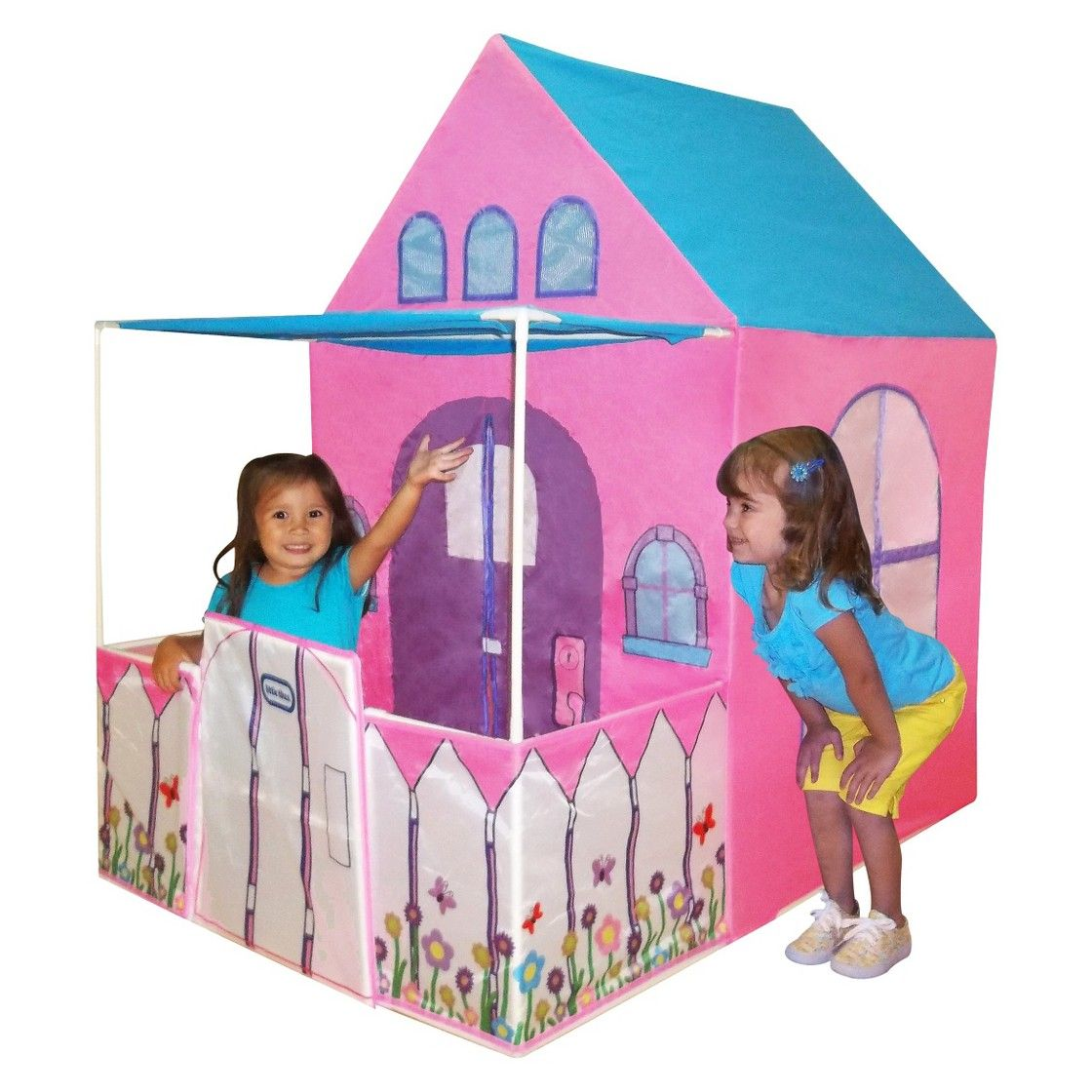Your little toddler will love this Victorian Cottage Play House from Little Tikes. It features a pretend picket fence with a swinging gate a front awning ...  sc 1 st  Pinterest & little tikes Victorian Cottage Playhouse Tent - Pink (54