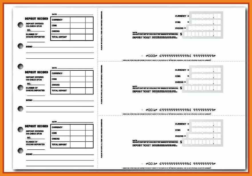 Generic Deposit slip template #ProjectManagementTemplates Project