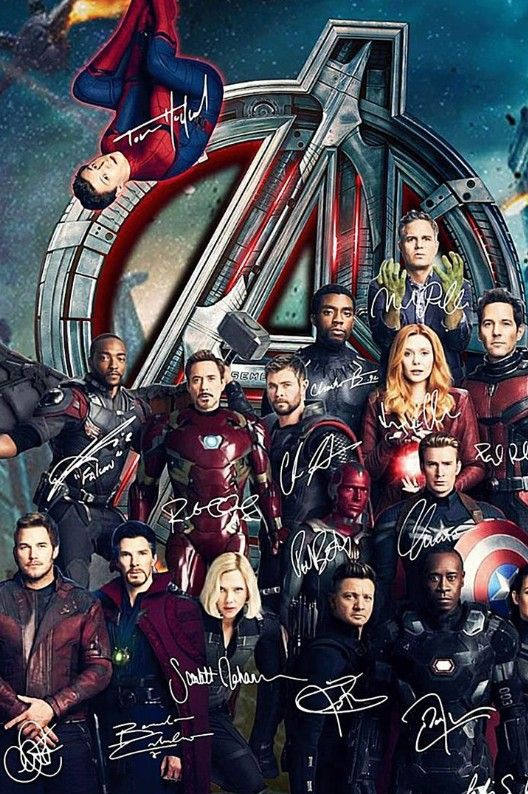 Avengers signed poster but incomplete without captain ...