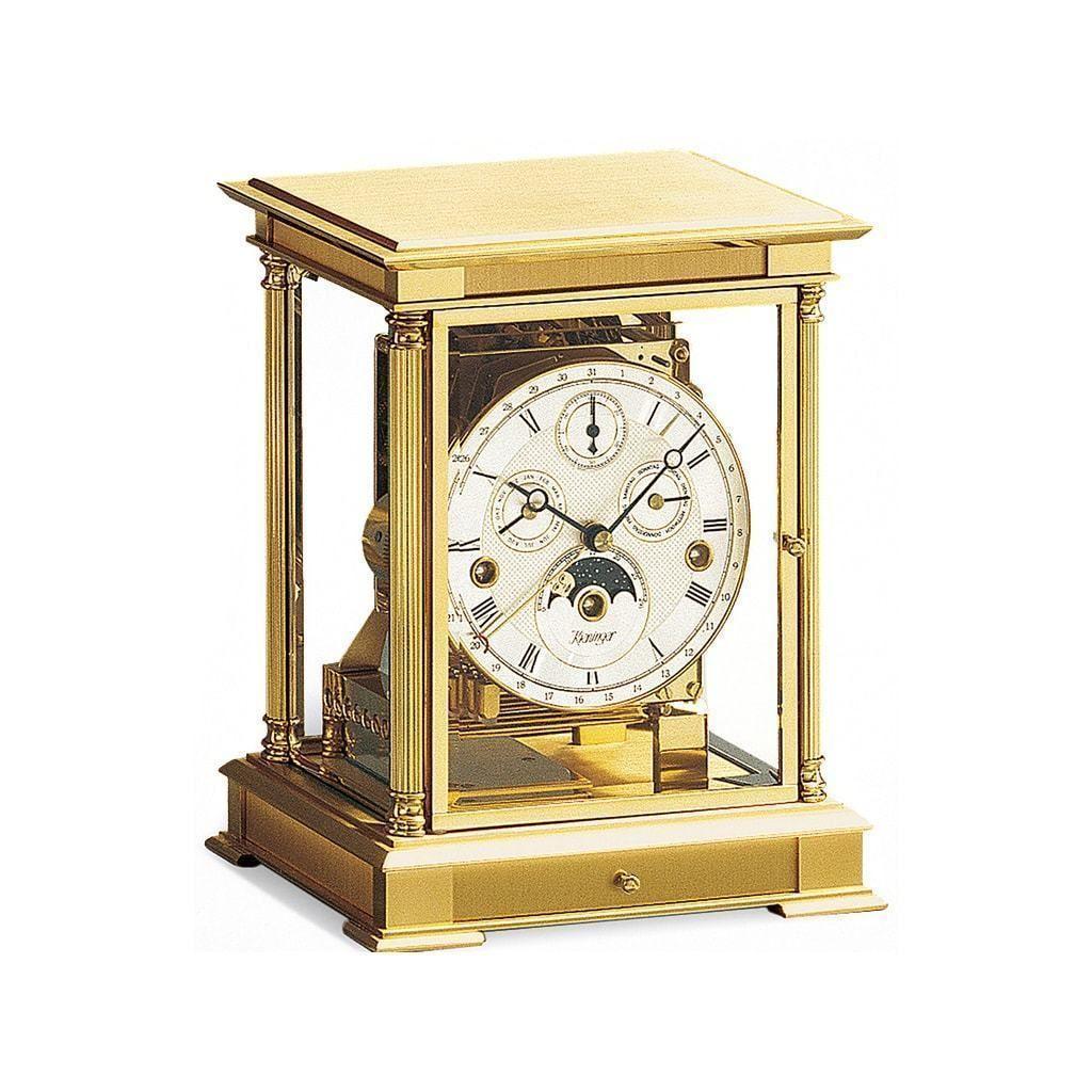 Kieninger 1240 06 05 Wellington Mantel Clock Triple Chimes Calendar Moonphase Clock Mechanical Clock Mantel Clocks
