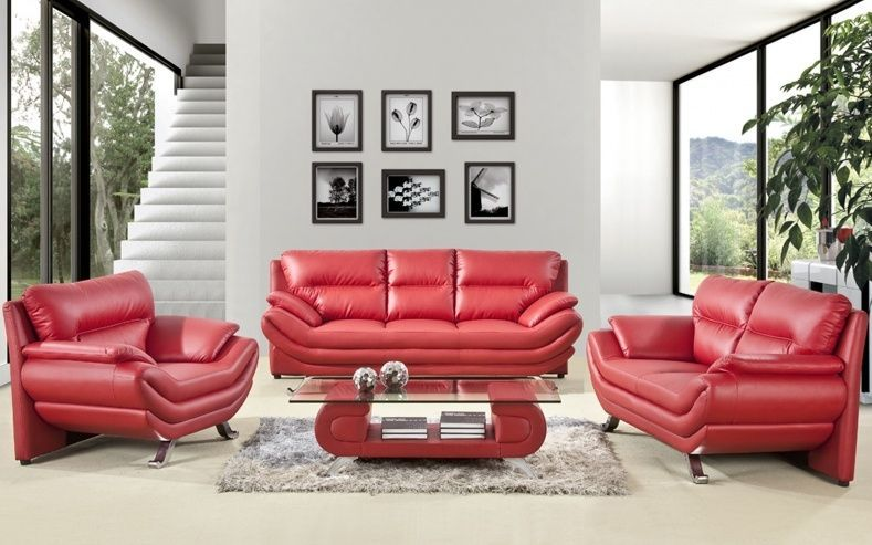 Pin On Ideas #red #leather #sofa #living #room #ideas