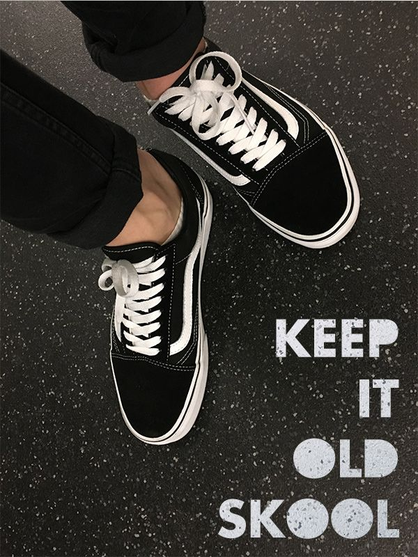 25d00635 Vans Old Skool: Black/White | Vans | Old skool outfit, Vans old ...