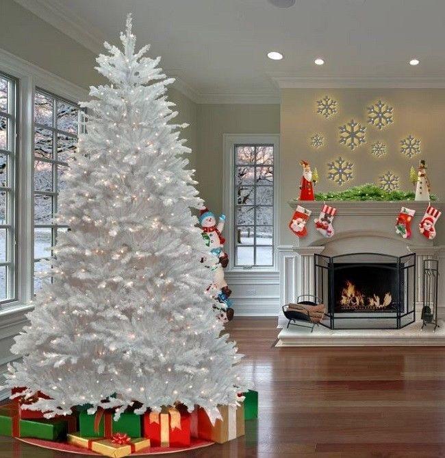 75ft Christmas Tree Artificial Xmas Trees White Fir Lights 750