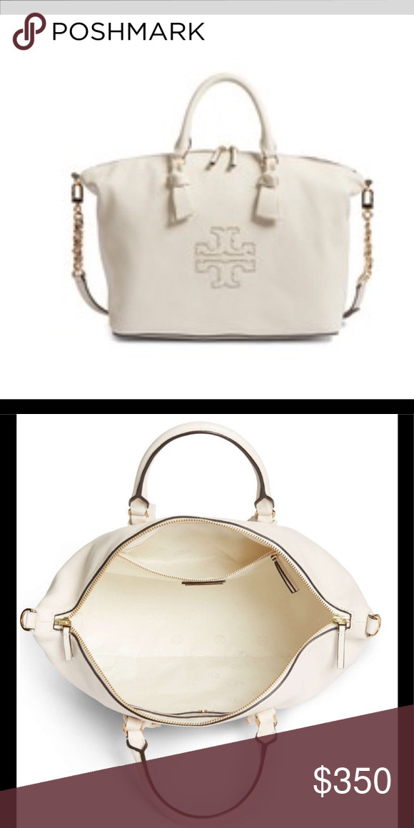 d00534e8a933 Tory Burch Harper slouchy leather satchel Beautiful Tory Burch leather purse  in new ivory Tory Burch