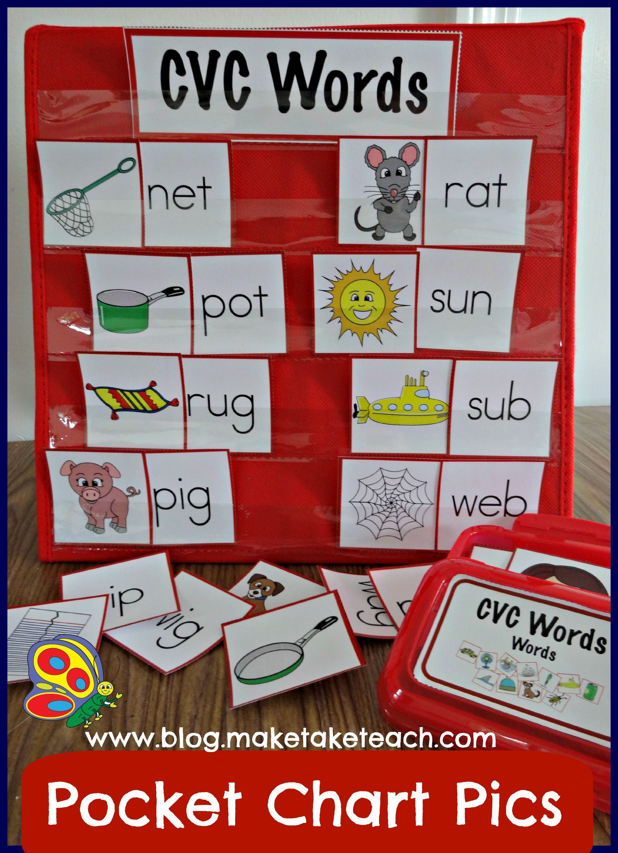 More Pocket Chart Pictures  Short Vowels Color Pictures And Chart
