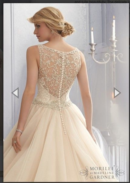 Wedding Dress. Mori Lee style # 2684. Ballgown with illusion back ...
