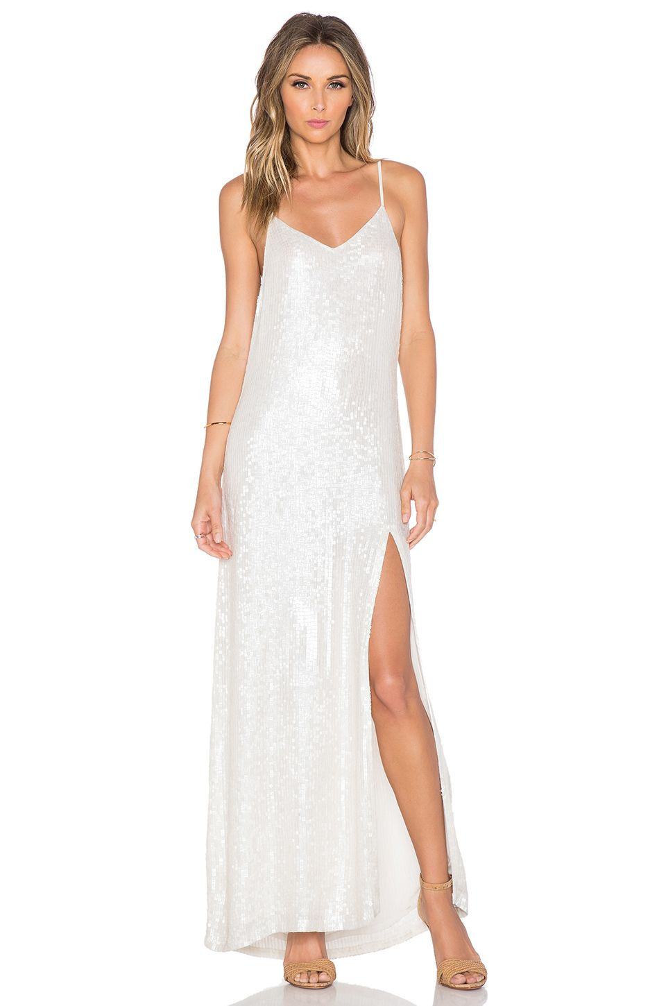 MLV London Sequin Maxi Dress in White | REVOLVE | ✒éclat | Pinterest