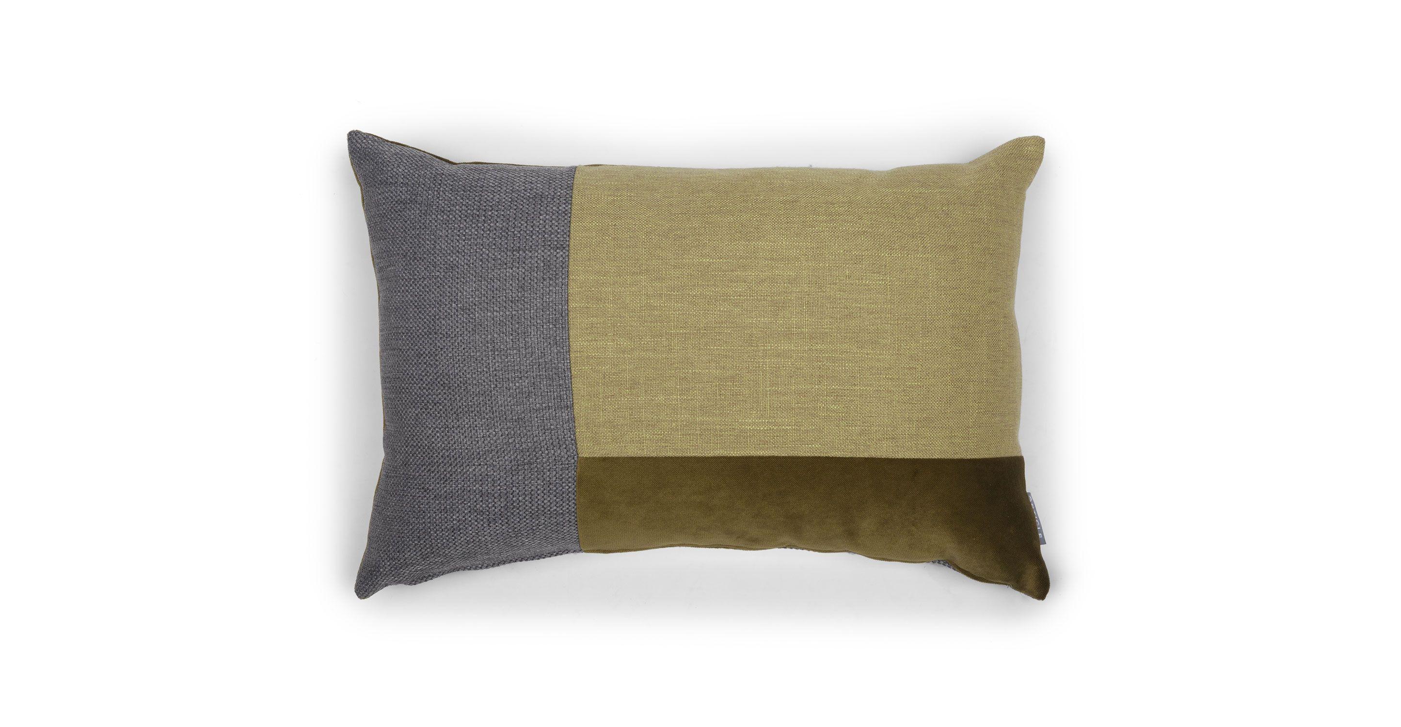 Greengray rectangular throw pillow article velu contemporary