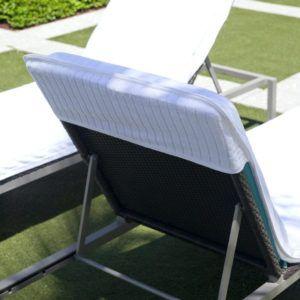 Terry Velour Lounge Beach Chair Cover Towel