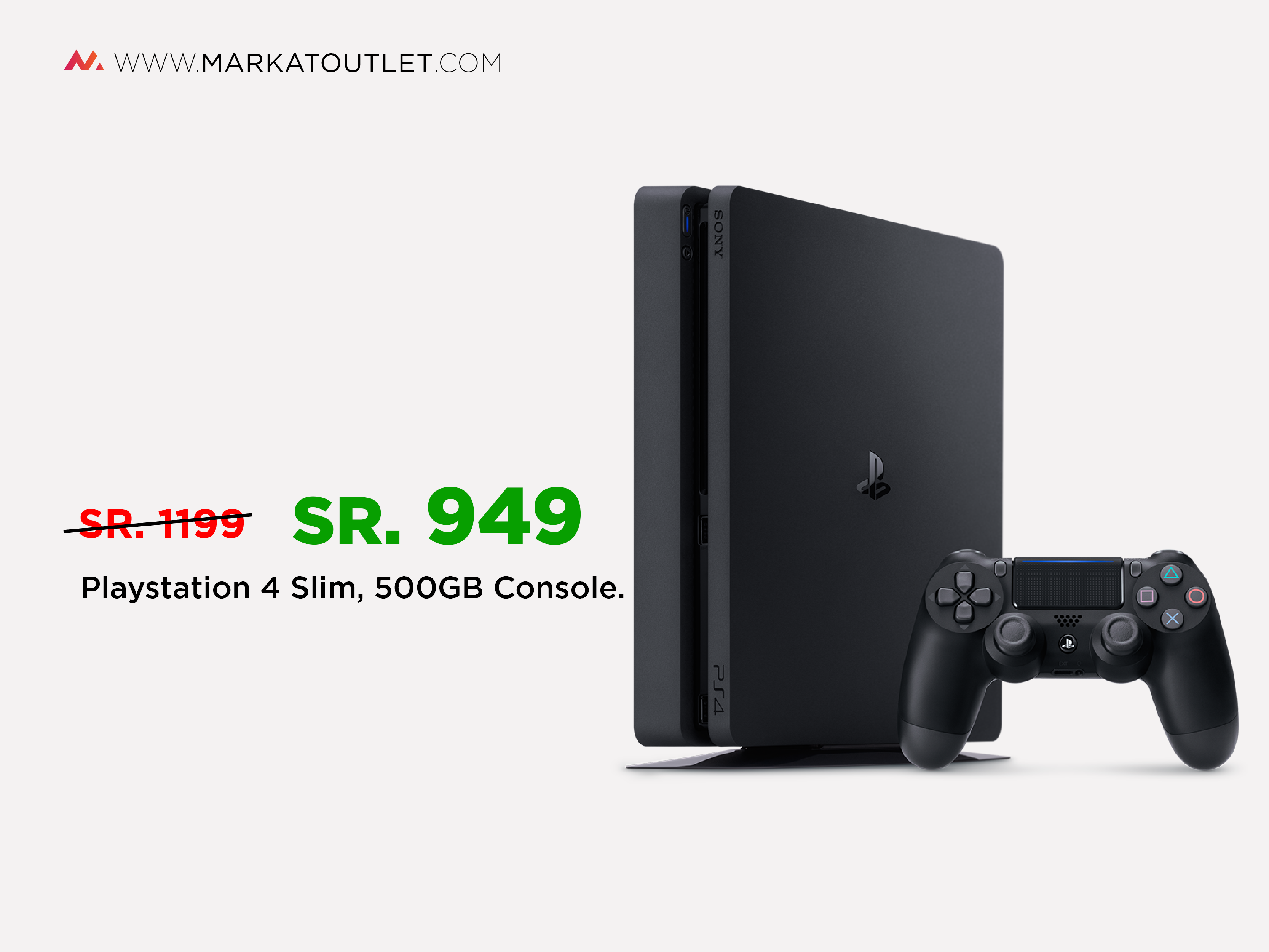 Ramzan Sale Playstation 4 Slim 500GB at Just 949 SR only !! Shop