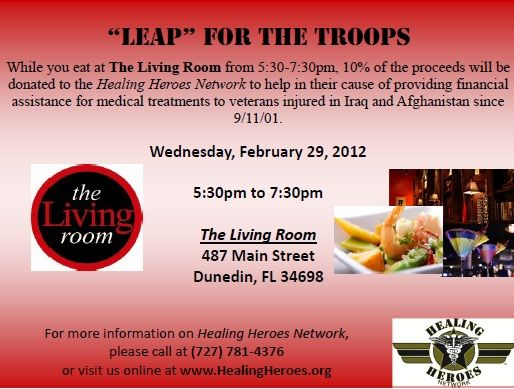 Leap Day Happy Hour at \'The Living Room\' in Dunedin, FL. Come out ...