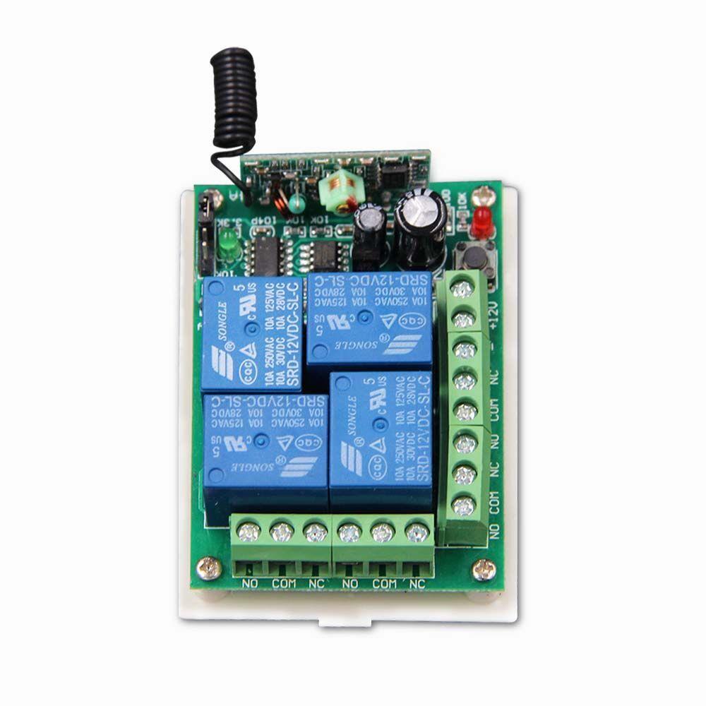 Dc 12v 24v 4 Ch 4ch Rf Wireless Remote Control Switch System Receiver Compatible 315 433 92 Mhz Remote Control Remote Wireless