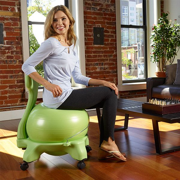 Find Balance And Strengthen Your Core With Gaiamu0027s Best Selling Balance  Ball Chair!