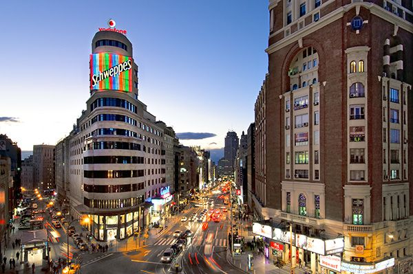 Fachada Vincci Capitol 4* (Madrid)