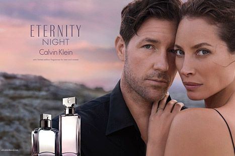 35dbc1f882 Christy Turlington returns as the face of Calvin Klein Eternity -- this  time with her husband Ed Burns